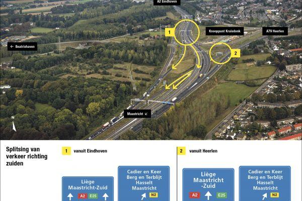 Vroegtijdig splitsen van verkeer - A2 ANWB borden Facebook richting Zuiden.jpg