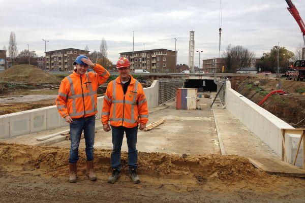 Edwin Leenders en Wout Ederveen bij de Severentunnel - Reen van Beek.JPG