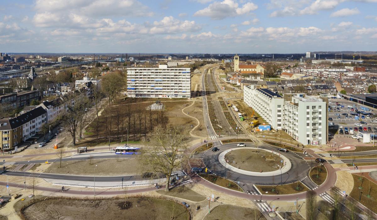 Maastricht-Oost is volop in verandering. © Fred Berghmans