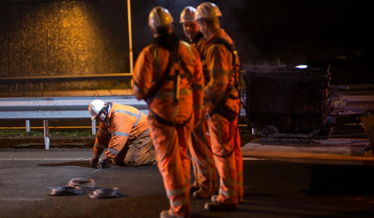 Team VTI tijdens de nacht van ingebruikname. © Aron Nijs