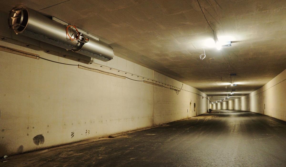 Ventilatoren in de tunnelbuizen. © Reen van Beek