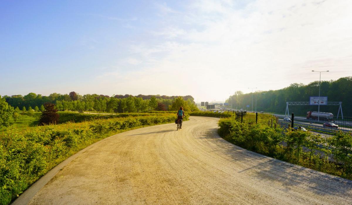 Uitzicht op de A2 vanaf de Groene Loper. © Fred Berghmans