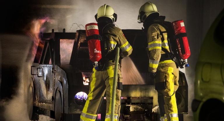 Brandweer Zuid Limburg oefent in oefentunnel IFA Zwitserland