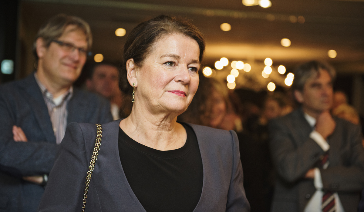 De burgemeester van Maastricht na afloop van de opening. © Jonathan Vos