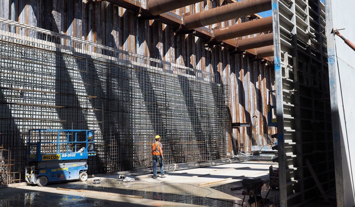 Betonwerk Koning Willem-Alexandertunnel. © Reen Beek
